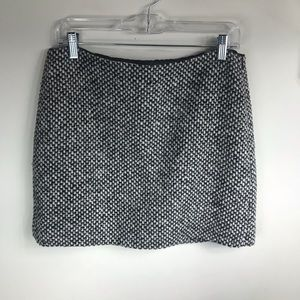 J. Crew | Black & White Tweed Mini Skirt
